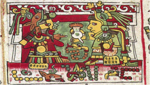 history-of-chocolate-mayan-painting
