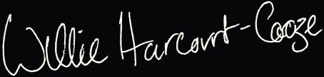 Willie Harcourt Cooze Signature