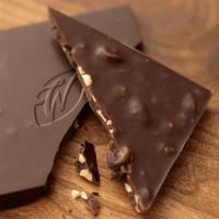 Single estate chocolate with hazelnut and raisin