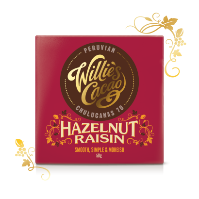 Hazelnut Raisin Dark Chocolate 70- 50g