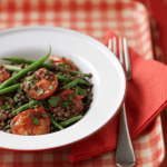 puy lentil and tomato