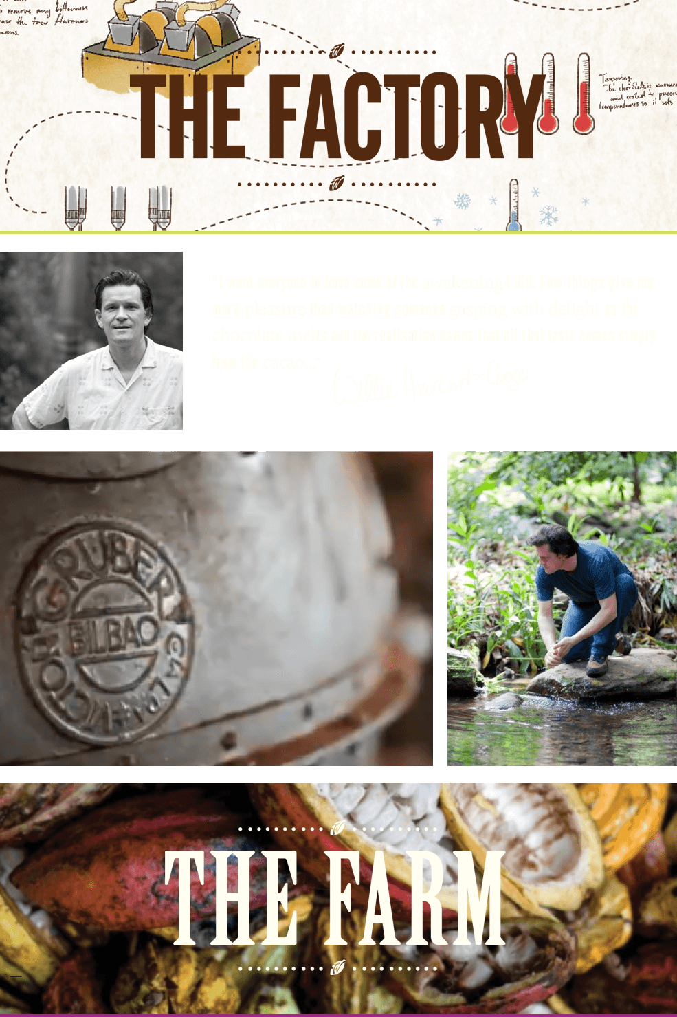 bean to bar chocolate making, uk factory and venezuela farm