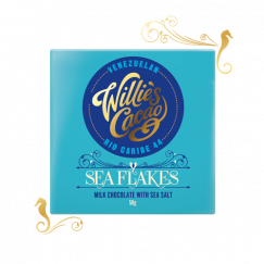 Sea Flakes,Milk chocolate with sea salt - 50g
