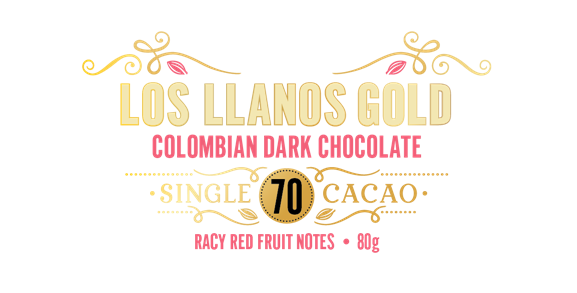 Los Llanos Gold, Colombian Dark Chocolate 70 - Ravy Red Fruity notes - 80g