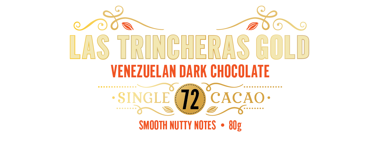 Venezuelan Gold, Las Trincheras 72 - Smooth, nutty notes - 80g