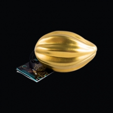 mini golden pod milk chocolate passion fruit