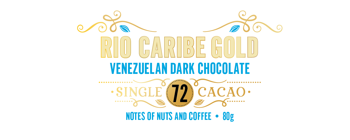 Venezuelan Gold, Rio Caribe 72- Complex notes of nuts & coffee - 80g