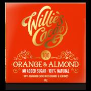 Orange & Almond 100% cacao no added sugar flat