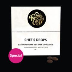 Willie's Cacao | Las Trincheras 72% bulk dark chocolate drops | For cooking