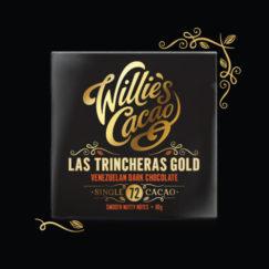 Willie's Cacao smooth nutty Las Trincheras 72% dark chocolate from Willie Harcourt-Cooze. Vegan