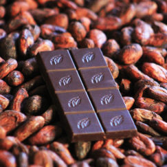 Las Trincheras 72% dark chocolate bar from Willie's Cacao. Made bean to bar from 100% natural ingredients. Vegan