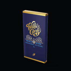 Treat sized Milk of the Gods, 44% milk chocolate from Willie's Cacao