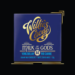 Willie's Cacao Milk of the Gods, 44% milk chocolate made bean to bar from the fine Rio Caribe bean.