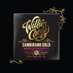 Willie's Cacao Sambirano 71% artisan dark chocolate with notes of summer fruits. Vegan.
