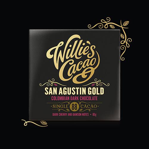 Willie's Cacao San Agustin 88% dark chocolate. Low sugar and Vegan.