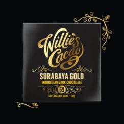 Willie's Cacao Surabaya 69% dark chocolate with soft caramel notes. Vegan.
