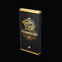 Pocket sized Willie's Cacao Las Trincheras 72% dark chocolate. Made from one of the finest single estate cacaos in the world. Vegan.
