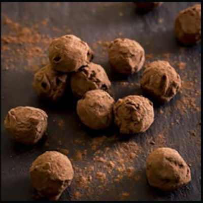 Willie's Cacao Dark Praline Truffles dusted in single estate Cacao powder - Vegan