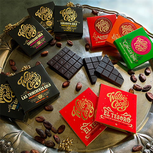 THE DISCOVERY TASTING BOX   WILLIE'S CACAO   ARTISAN DARK CHOCOLATE