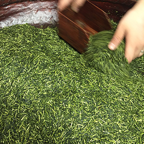 The Matcha tea with the farmers near Kyoto. This green tea has an incredibly pure flavour - it is ceremonial grade drinking matcha