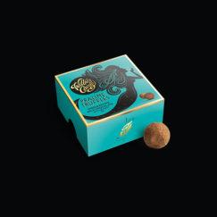 Willie's Cacao Praline Truffles made with 44% milk chocolate and Cornish sea salt