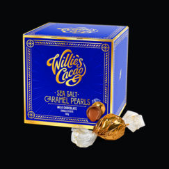 Willie's Cacao gorgeous Milk Salted Caramel Pearls - Artisan Made- All Natural -