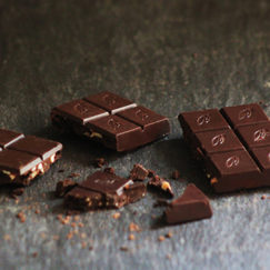 Willie's Cacao Orange & Almond chocolate. 100% cacao naturally sweetened with fruit and nuts. Vegan chocolate.